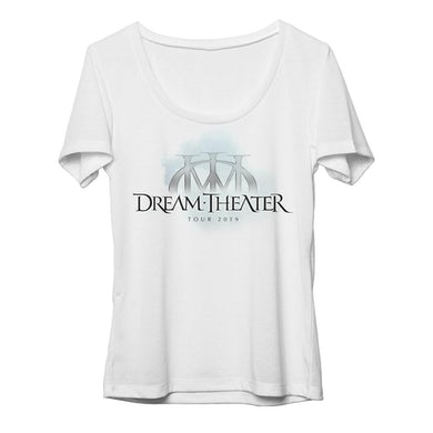 Dream Theater Women's Majesty Logo North American Tour 2019 Scoop Neck Tee