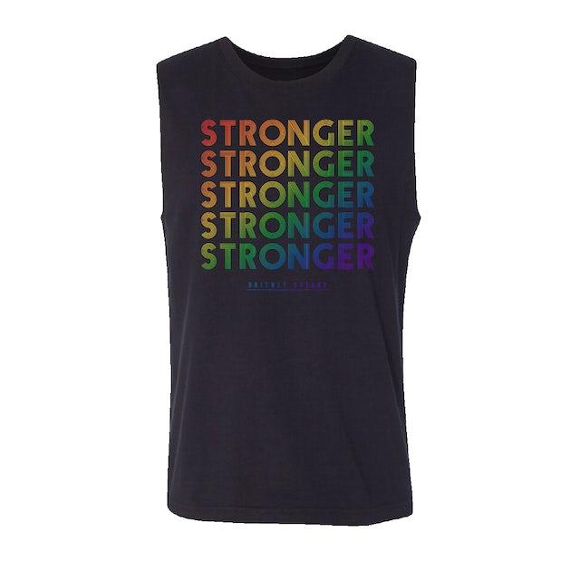 Britney Spears Stronger Rainbow Foil Tank