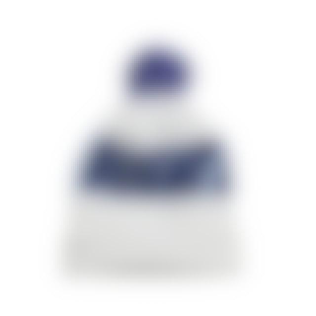 Client Liason Pom Pom Beanie (Blue/White)
