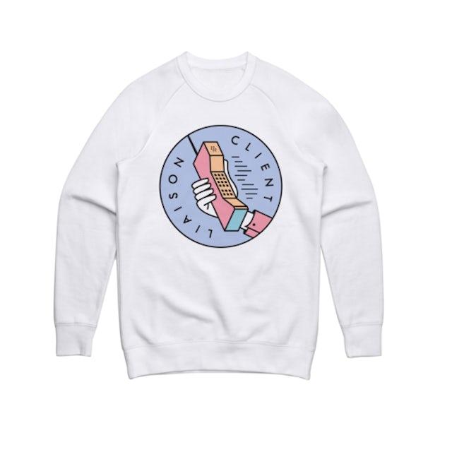 Client Liaison Phone (White) Crewneck Sweater
