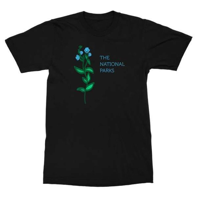 The National Parks | Flowers T-Shirt - Black