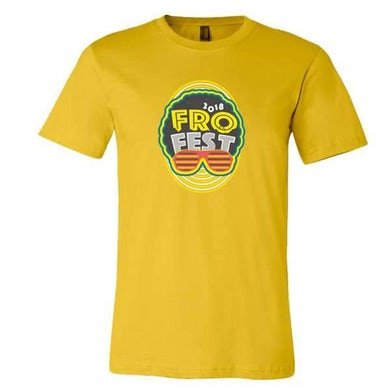 Andy Frasco & The U.N. Andy Frasco | Fro Fest 2018 T-Shirt - Yellow