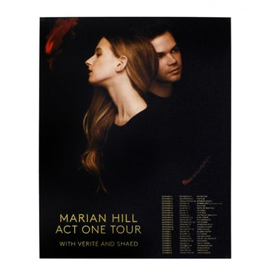 Marian Hill | 12X15 Act One 2016 Tour Poster