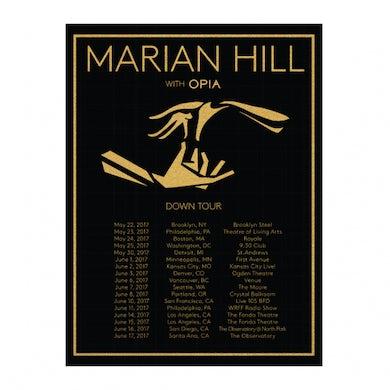 Marian Hill | 18X24 2017 Down Tour Poster