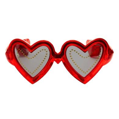 Elton John Red Heart Light Up Glasses