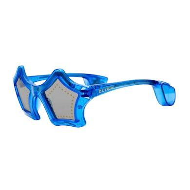 Elton John Blue Star Light Up Glasses