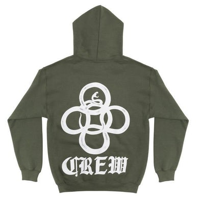 """Alesso """"CREW"""" HOODIE [GREEN]"""