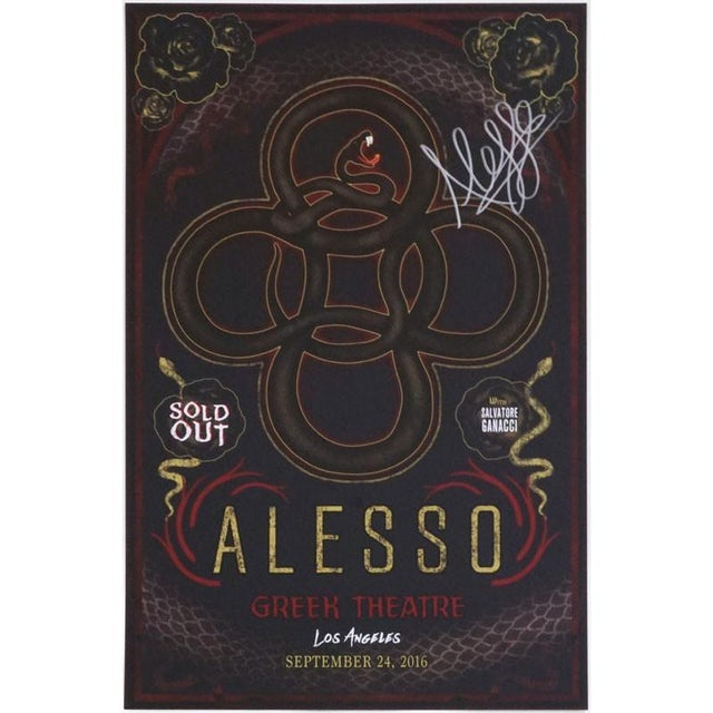 Alesso GREEK THEATRE SIGNED POSTER