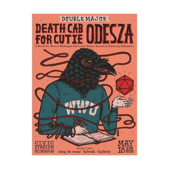 Odesza Double Major Event Poster
