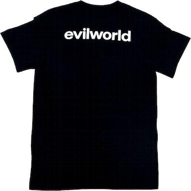 Brodinski Black Evil World Back Text Tee