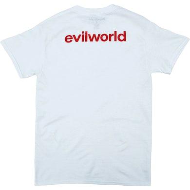 Brodinski White Evil World Back Text Tee