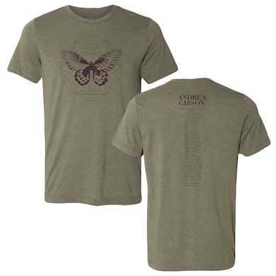 Andrea Gibson Lord of the Butterflies Tour Tee (W/ Dates)