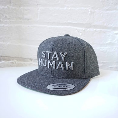 Michael Franti & Spearhead Stay Human Snapback Hat (Grey/Grey)