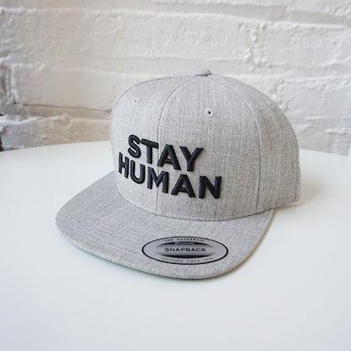 Michael Franti & Spearhead Stay Human Snapback Hat (Light Grey/Black)
