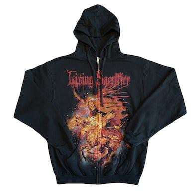 Living Sacrifice Reaper On Fire Zip Hoodie
