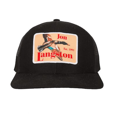 Jon Langston Black Patch Hat