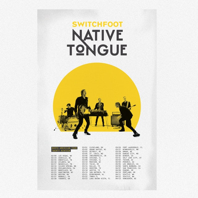 Switchfoot Native Tongue Live Poster