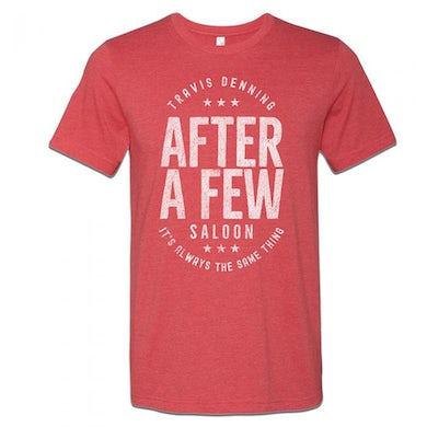 After A Few Logo Red T-Shirt