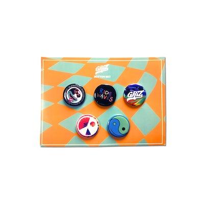 GRiZ Ride Waves Spring Button Set