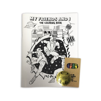 GRiZ My Friends And I Coloring Book