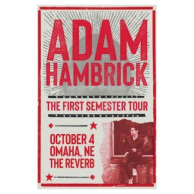 Adam Hambrick Signed Omaha Tour Poster