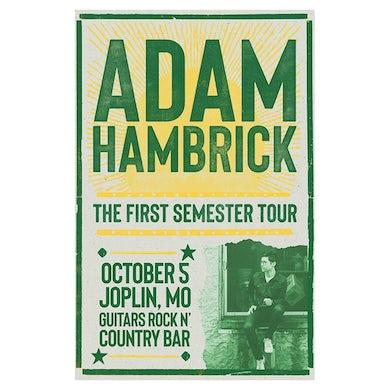 Adam Hambrick Signed Joplin Tour Poster
