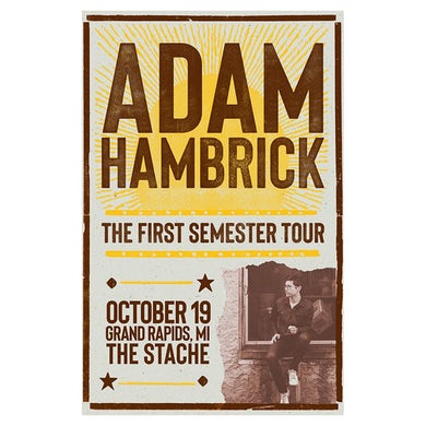 Adam Hambrick Signed Grand Rapids Tour Poster