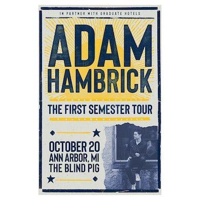 Adam Hambrick Signed Ann Arbor Tour Poster