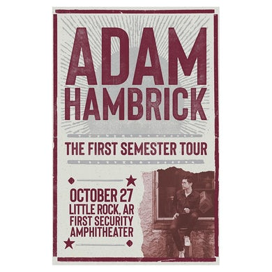 Adam Hambrick Signed Little Rock Tour Poster