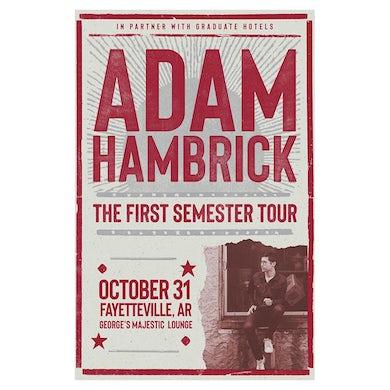 Adam Hambrick Signed Fayetteville Tour Poster