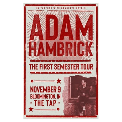 Adam Hambrick Signed Bloomington Tour Poster