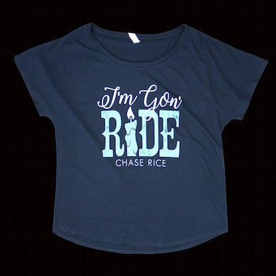 Chase Rice Ladies I'm Gon' Ride Tee - Navy