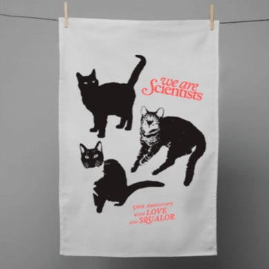We Are Scientists With Love & Squalor Tea Towel