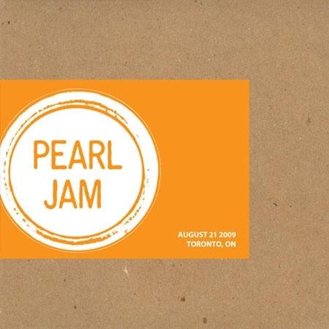 Pearl Jam TORONTO 8/21/2009 BOOTLEG CD