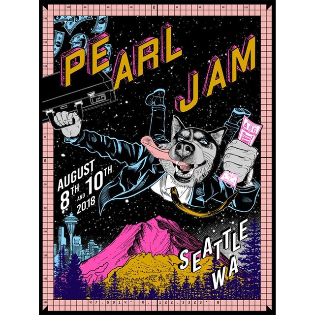 Pearl Jam 2018 SEATTLE HOME SHOWS POSTER FAILE