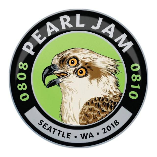 Pearl Jam 2018 SEATTLE HOME SHOWS OSPREY EVENT BADGE