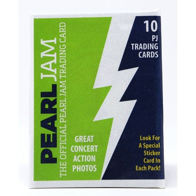 2018 PEARL JAM SEATTLE HOME SHOWS TRADING CARDS PACK