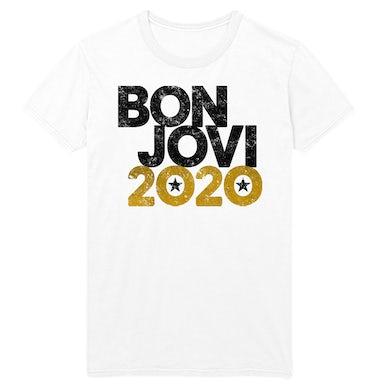 Bon Jovi 2020 White Tee