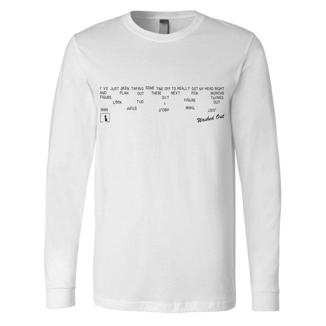 Washed Out Just Think L/S T-shirt
