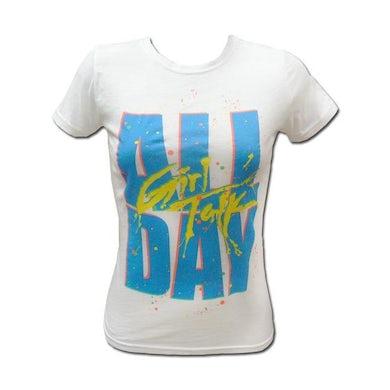 Girl Talk Girl's White All Day T-shirt