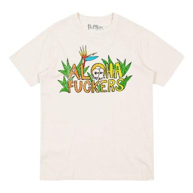 Pepper Aloha Fuckers Skullconut White Tee