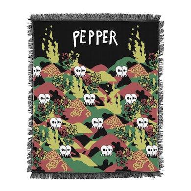 Pepper Skullconut Rasta Woven Blanket