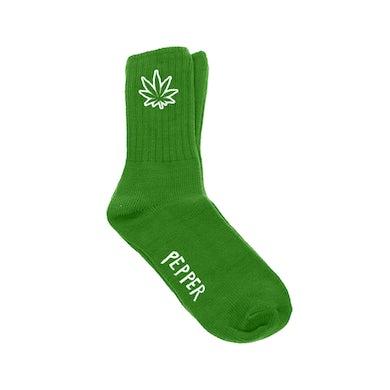 Pepper Weed Green Socks