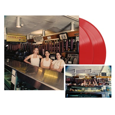 Haim Women in Music Pt. III Red Opaque Vinyl + Signed Postcard