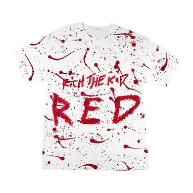 Rich The Kid RED SPLATTER T-SHIRT