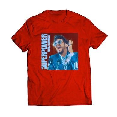 Adam Lambert Super Power Blood Red Tee