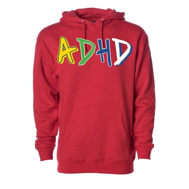 Joyner Lucas Red ADHD Hoodie + Instant ADHD Digital Download