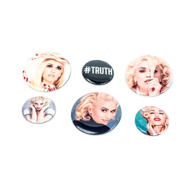 Gwen Stefani Button Set