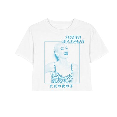 Gwen Stefani Blue Photo Crop Tee