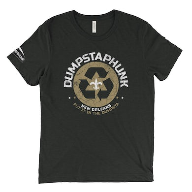 Dumpstaphunk Recycle Logo - Black & Gold